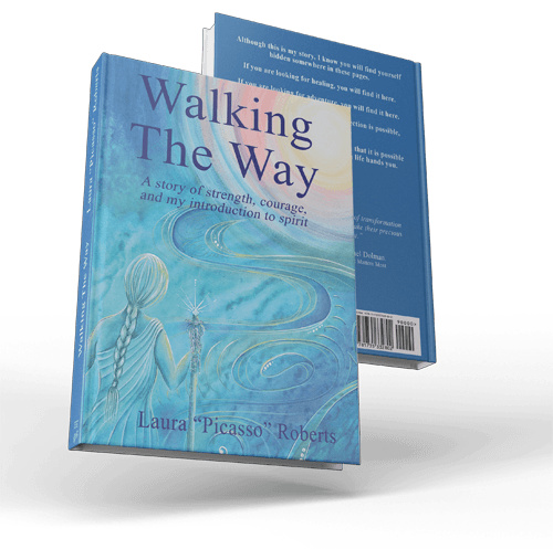 Walking The Way : A story of Strength, Courage and My Introduction to Spirit. Book front and back cover